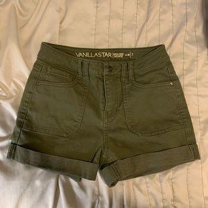 Green cargo shorts by vanilla star